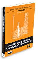 Control De Ejecucion De Tabiquerias Y Cerramientos por Pablo Collado Trabanco