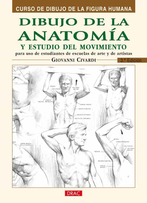 DIBUJO DE LA ANATOMIA Y ESTUDIO DEL MOVIMIENTO: CURSO DE DIBUJO D E LA FIGURA HUMANA (3ª ED) | GIOVANNI CIVARDI | Comprar libro 9788495873606