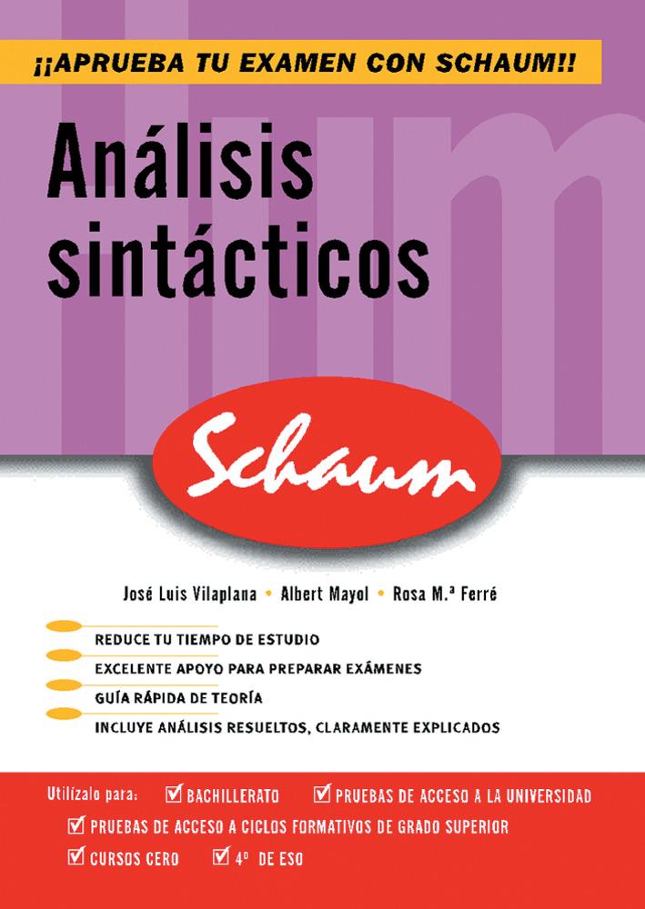 Analisis Sintacticos (schaum Selectividad) por Jose Luis Vilaplana epub
