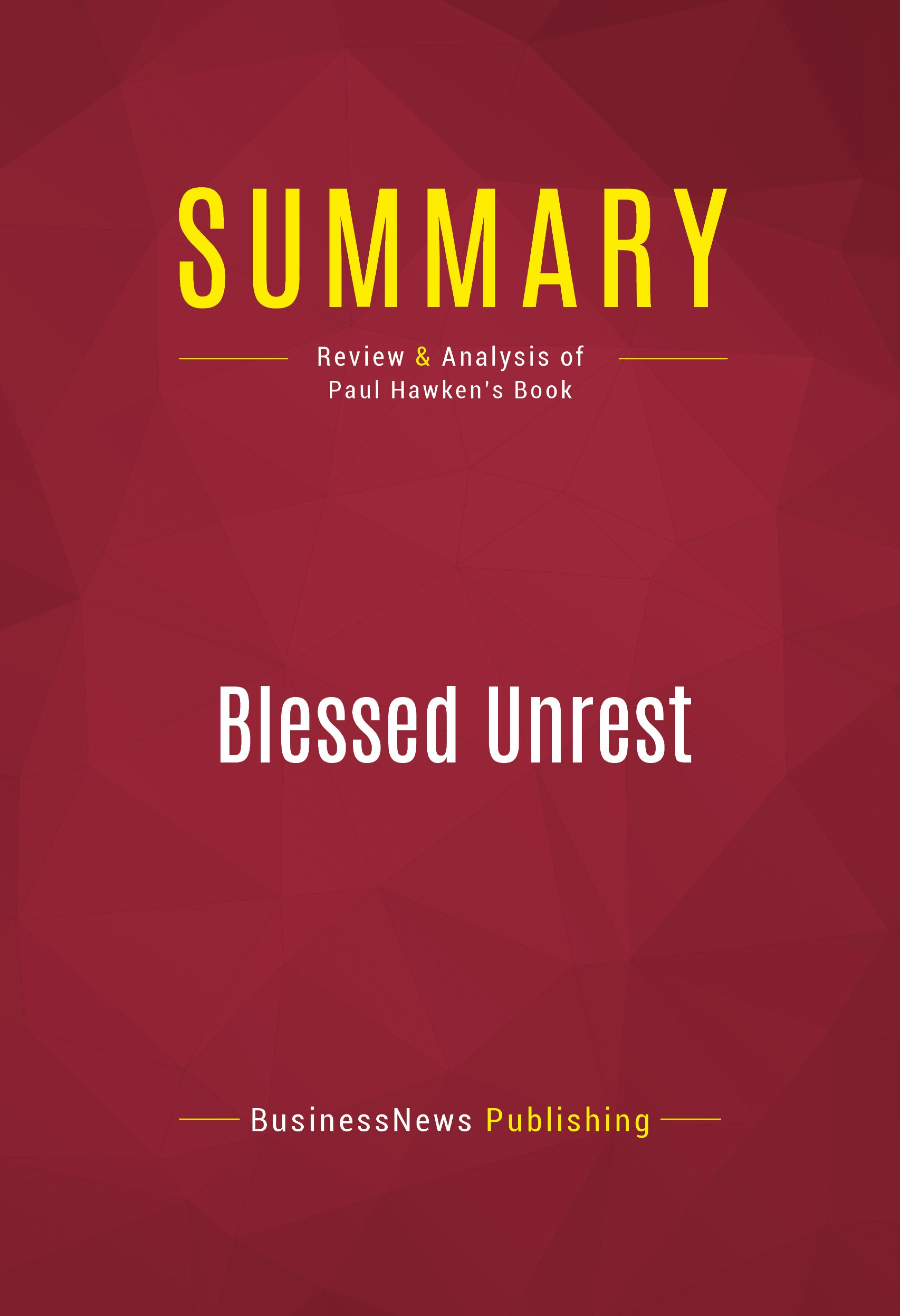 Blessed Unrest Pdf