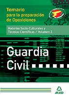 Guardia Civil. Temario Para La Preparacion De Oposiciones, Cienci As Juridicas. Volumen Ii por Vv.aa.