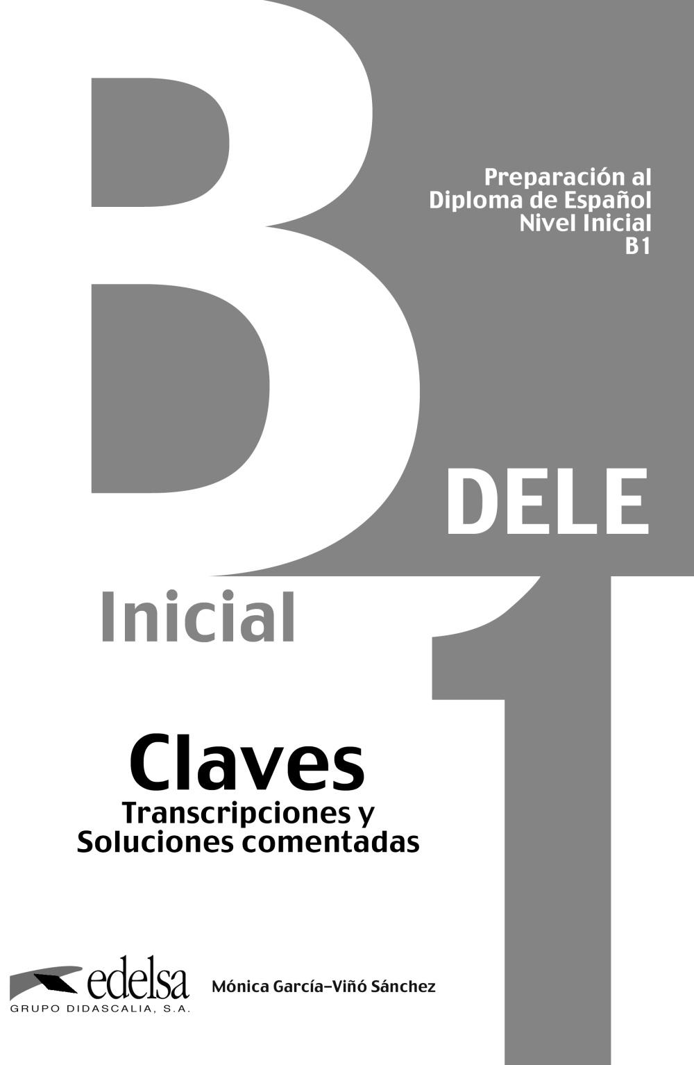 Preparacion Dele B1 Claves por Vv.aa.