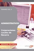 Administrativos Corporaciones Locales De Navarra. Temario Vol. Ii por Vv.aa. epub