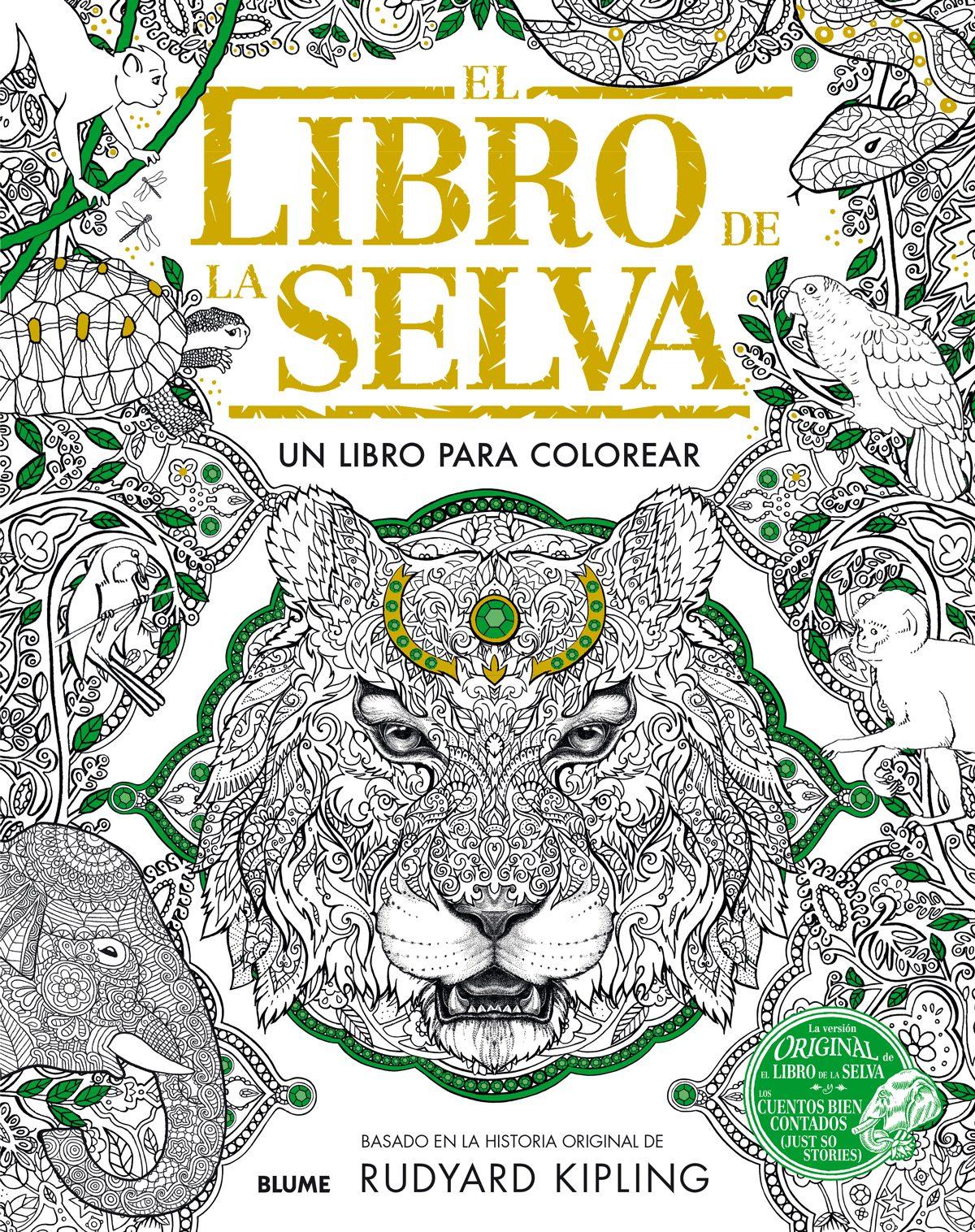 EL LIBRO DE LA SELVA: UN LIBRO PARA COLOREAR | RUDYARD KIPLING ...