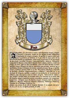 Apellido Josa / Origen, Historia Y Heráldica De Los Linajes Y Apellidos Españoles E Hispanoamericanos   epub
