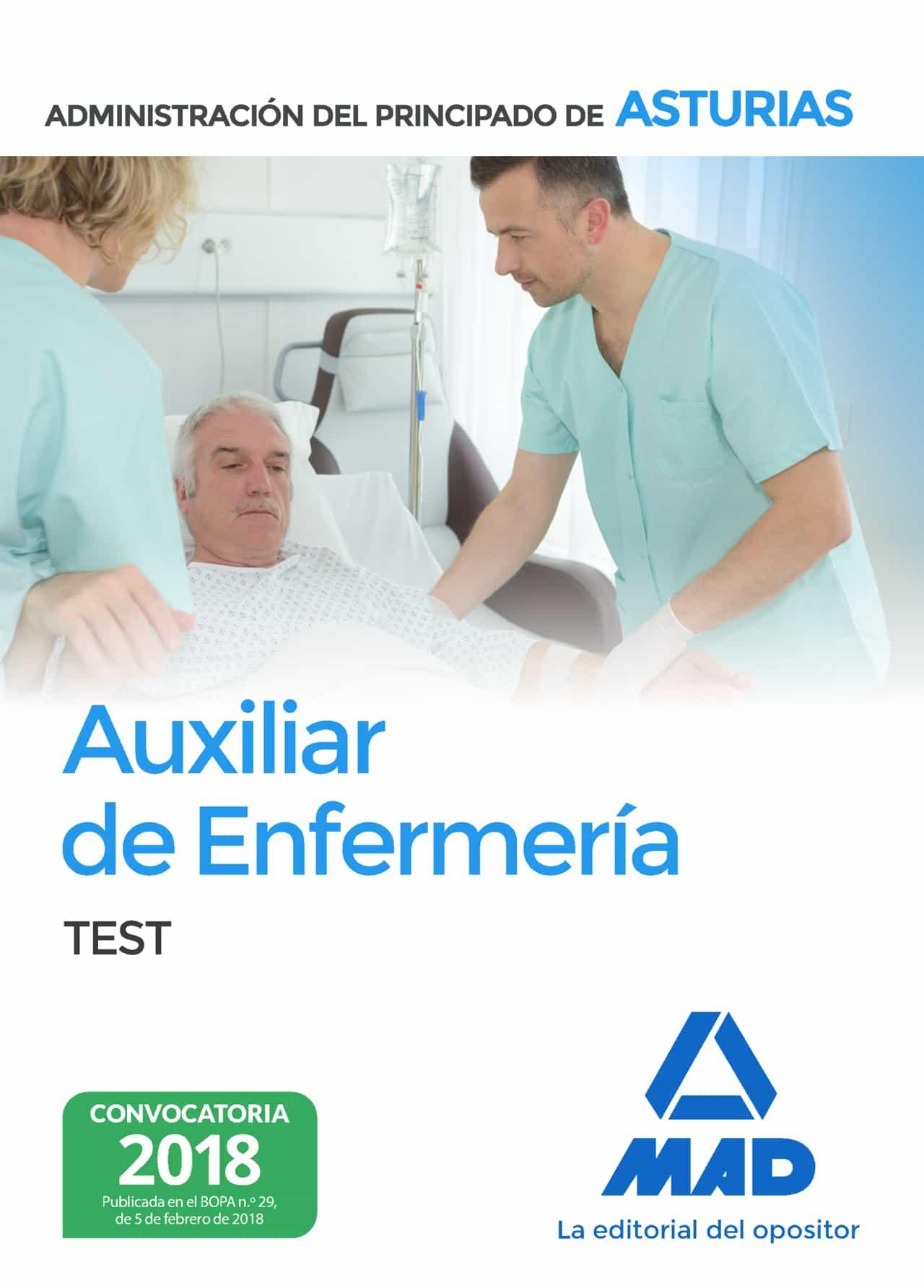 Auxiliar De Enfermeria De La Administracion Del Principado De Asturias. Test por Vv.aa.