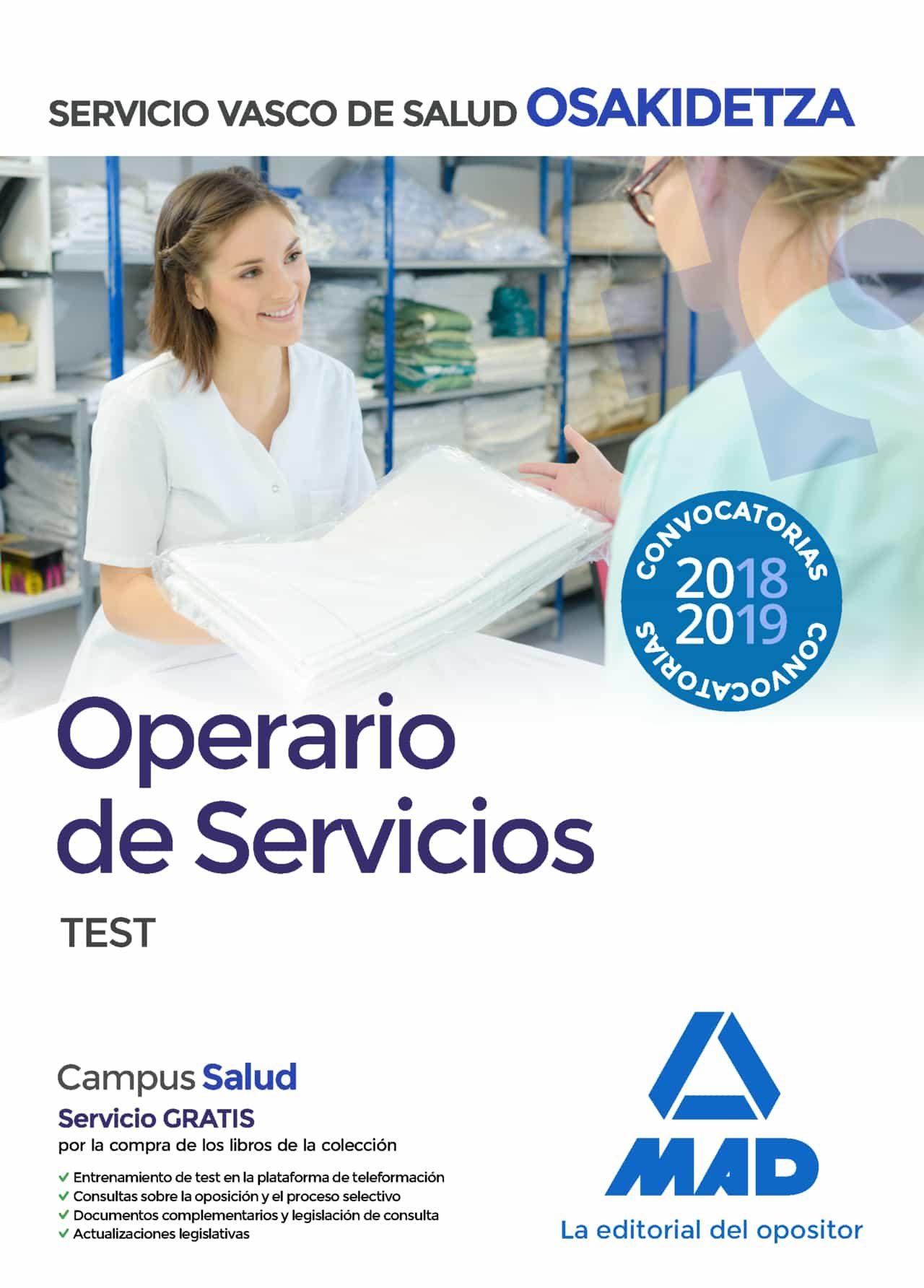 Operario/a De Servicios De Osakidetza-servicio Vasco De Salud. Test por Vv.aa.