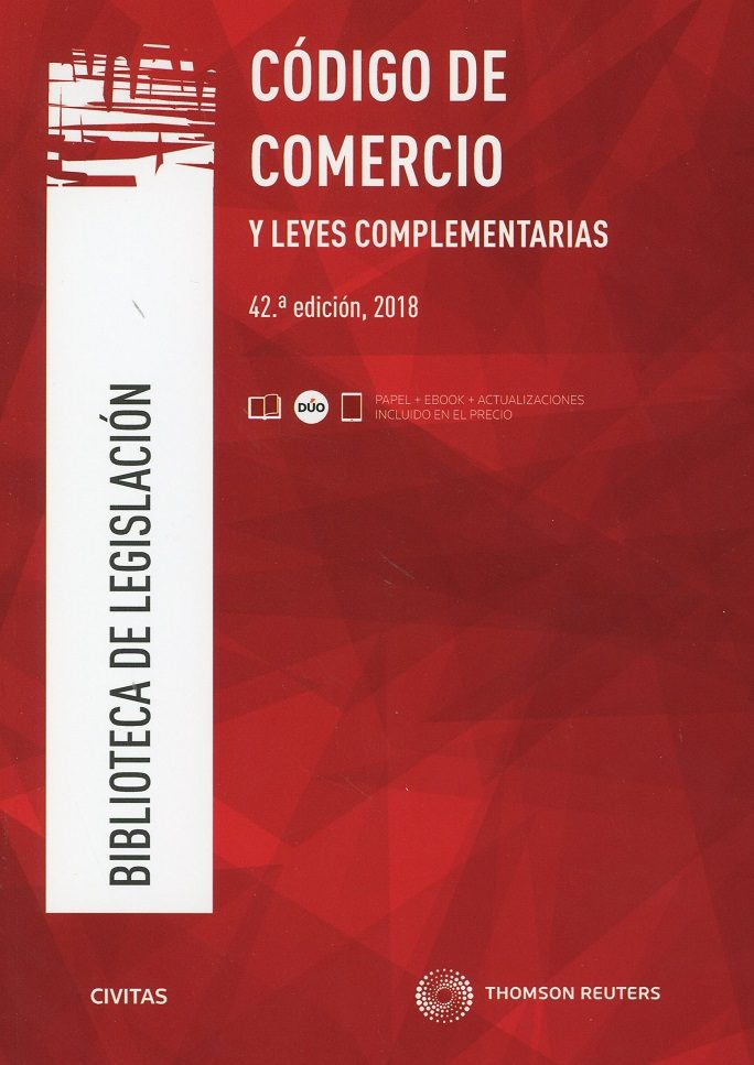 Civitas: Codigo De Comercio Y Leyes Complementarias (42ª Ed.) por Vv.aa.