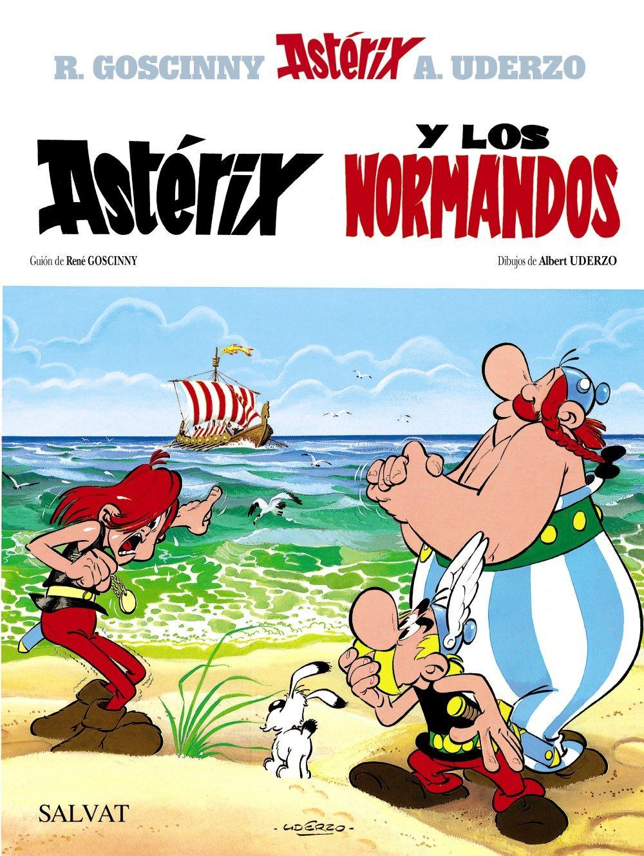 Astérix y los Normandos,Uderzo, René Goscinny,Salvat  tienda de comics en México distrito federal, venta de comics en México df