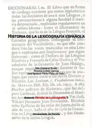 Historia De La Lexicografia Española por Mar Campos Souto epub