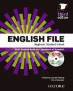 english file beginner student s book + workbook pack 3ªed 9780194501606