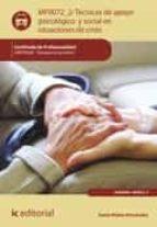 técnicas de apoyo psicológico y social en situaciones de crisis. sant0208 (ebook) sonia nuñez fernandez 9788483649206