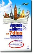 aprende un idioma en 7 dias ramon campayo 9788441417816