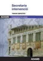 SECRETARIA INTERVENCIO CORPORACIONS LOCALS: TEMARI ESPECIFIC