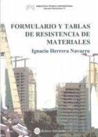 formulario y tablas de resistencia de materiales-ignacio herrera navarro-9788492970216