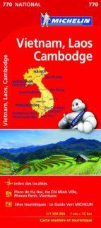 mapa nacional vietnam, laos y camboya-9782067217126
