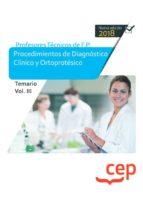cuerpo de profesores técnicos de f.p. procedimientos de diagnóstico clínico y ortoprotésico temario volumen iii 9788417625726
