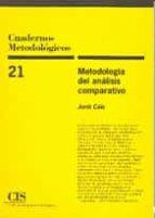 metodologia del analisis comparativo-jordi caïs fontanella-9788474762426