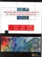 bases matematicas para el analisis economico carmen anido hermida martha saboya baquero 9788484914426