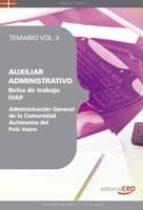 AUXILIAR ADMINISTRATIVO DE LA ADMINISTRACION GENERAL DE LA COMUNI DAD AUTONOMA DEL PAIS VASCO. BOLSA DE TRABAJO IVAP. TEMARIO V