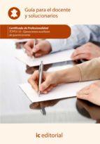 (i.b.d.) operaciones auxiliares de guarnicioneria. tcpf0110 guia para el docente y soluciones-9788415994336