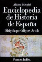 fuentes, indices (enciclopedia de historia de españa;t.7)-9788420652436