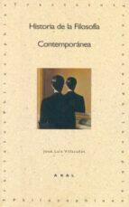 historia de la filosofia contemporanea-jose luis villacañas berlanga-9788446007036