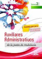 AUXILIARES ADMINISTRATIVOS DE LA JUNTA DE ANDALUCIA.TEMARIO VOLUMEN II