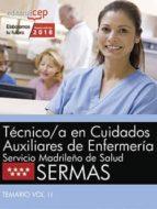 tecnico/a en cuidados auxiliares de enfermeria. servicio madrileño de salud (sermas): temario (vol. ii)-9788468187136