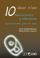 10 ideas clave: neurociencia y educacion: aportaciones para el aula-anna carballo marquez-marta portero tresserra-9788499808536