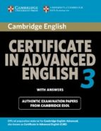 cambridge certificate in advanced english 3 for updated exam. stu dent s book with answers (examination papers from university of cof cambridge esol examinations)-9780521739146