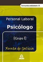 psicologo de la xunta de galicia. vol.ii. temario 9788466557146