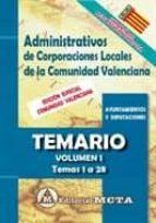 auxiliares de corporaciones locales de la comunidad valenciana: temario (vol. ii): temas 29 a 65 9788482193946