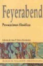 provocaciones filosoficas paul k. feyerabend 9788497421546