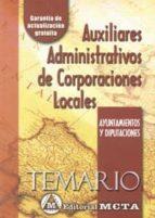auxiliares administrativos de corporaciones locales. temario (ayu tnamiento y diputaciones) manuel segura ruiz 9788482191751