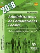 administrativos de corporaciones locales: test del temario-9788416963256