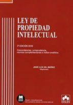 ley de propiedad intelectual: concorsancias, jurisprudencia, normas complementarias e indice analito (3ª ed.)-9788417135256