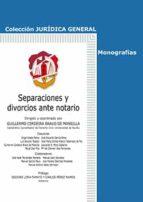 separaciones y divorcios ante notario-g. cerdeira bravo de mansilla-9788429019056