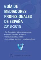 guía de mediadores profesionales de españa 2018-2019-9788473606356