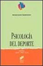psicologia del deporte jaume cruz feliu 9788477384656