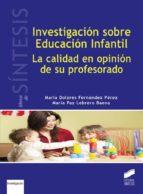 investigación sobre educación infantil (ebook)-maría dolores fernández pérez-maría paz lebrero baena-9788490777756