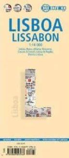 lisboa, plano callejero plastificado 9783866093966