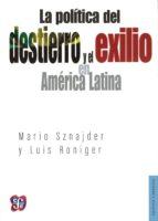 El libro de La politica del destierro y el exilio en america latina autor MARIO SZNAJDER DOC!