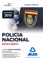 policia nacional escala basica: test (vol. 1): ciencias juridicas 9788414214466