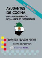 AYUDANTES DE COCINA PARTE ESPECÍFICA (TEMARIO-TESTS-SUPUESTOS)