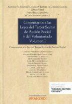 comentarios a las leyes del tercer sector de accion social y del voluntariado (vol. i) antonio v. sempere navarro 9788491350866