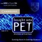 insight into pet (2 audio cds) helen naylor stuart hagger 9780521527576