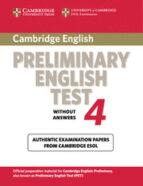 cambridge pet 4. student s book (cambridge preliminary english te st 4) 9780521755276