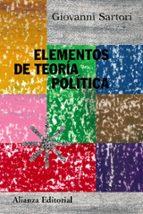 elementos de teoria politica-giovanni sartori-9788420647876