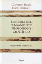 historia del pensamiento filosofico y cientifico (t. 1) dario antiseri giovanni reale 9788425415876